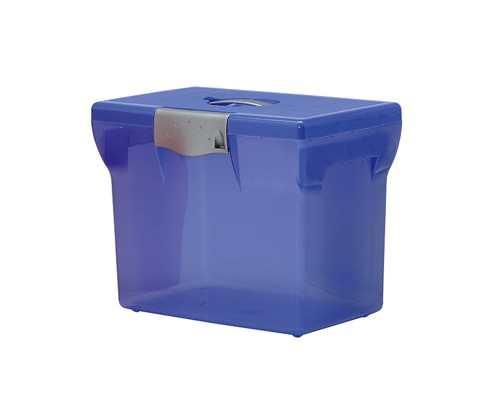 File Box Plastic for Suspension Files A4 W370xD240xH300mm Light Blue