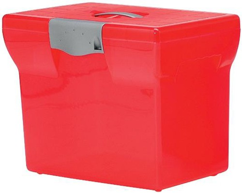 File Box Plastic for Suspension Files A4 W370xD240xH300mm Pink