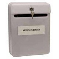 Image for Post or Suggestion Box Wall Mountable with Fixings Grey
