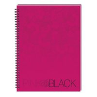Oxford Pink and Black Notebook Wirebound Ruled 140pp A4 Ref 100080543 [Pack 5]