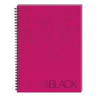 Oxford Pink and Black Notebook Wirebound Ruled 140pp A5 Ref 100080417 [Pack 5]