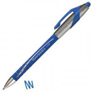 Paper Mate Flexgrip Elite Ball Pen Retractable 1.4mm Tip 1.0mm Line Blue Ref S0767610 [Pack 12]