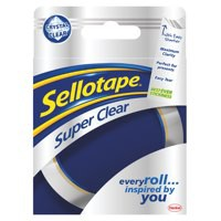 Sellotape Super Clear Premium Quality Easy Tear Tape 24mmx50m Ref 1569087 [Pack 6]