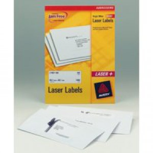 Avery Laser Labels 199.6x143.5mm 2 Per Sheet White 200 Label FSC Code L7168-100