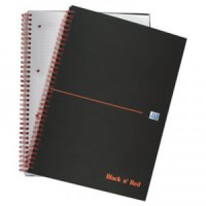 Black n Red Book Wirebound Smart Ruled and Perforated 90gsm 140 Pages A4 Matt Black Code 846364903