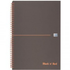 Black n Red Book Wirebound Ruled and Perforated 90gsm 140 Pages A4 Matt Black Code 846354905