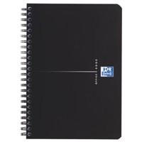 Oxford Office Notebook Wirebound Polypropylene Ruled 180pp 90gsm A5 Smart Black Code 100103627