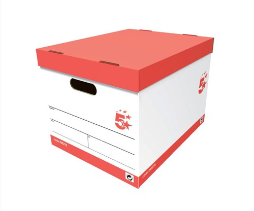 5 Star Storage Box Oyster White