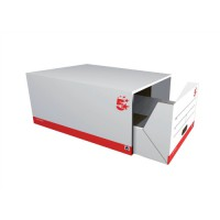 Image for 5 Star Archive Storage Drawer W439x634x285mm White and Black [Pack 5]