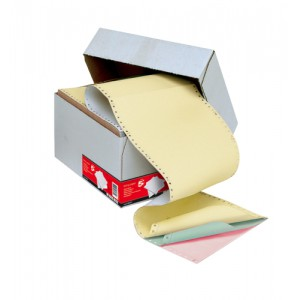 5 Star Listing Paper 4-Part Microperforated 56/53/53/57gsm Carbonless A4 4 Colours [500 Sheets]