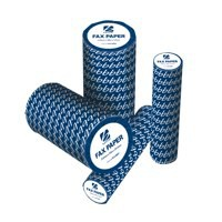 Image for 5 Star Fax Roll Thermal with 1m Warning Strip W210mmxL30mx25.4mm Core [Pack 6]