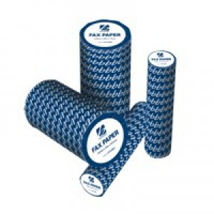 5 Star Fax Roll Thermal with 1m Warning Strip W210mmxL30mx25.4mm Core [Pack 6]