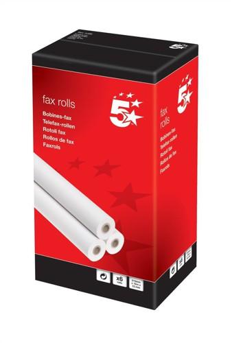 5 Star Fax Roll 210mmx50Mx25.4mm