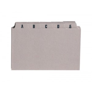 5 Star Guide Card Set A-Z 6x4in 25 Cards 152x102mm Buff