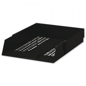 5 Star Letter Tray Black
