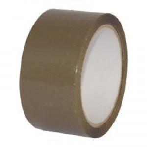 5 Star Packaging Tape Polypropylene 50mm x 66m Buff [Pack 6]