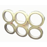 5 Star Clear Tape Roll Large Easy-tear Polypropylene 40 Microns 19mm x 66m [Pack 8]
