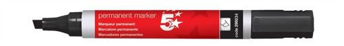 5 Star Permanent Marker Xylene/Toluene-free Smearproof Chisel Tip 1-4mm Line Black Ref [Pack 12]