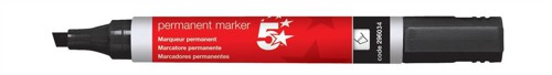 5 Star Office Perm Marker Chisel Tip Blk