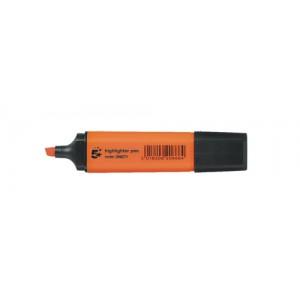 5 Star Highlighters Chisel Tip 1-4mm Line Orange [Pack 12]