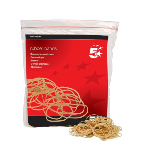 5 Star RubberBands No16 63x1.5mm454g Bag