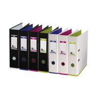 Elba MyColour Lever Arch File Polypropylene Capacity 80mm A4 Black and Purple Ref 100081034