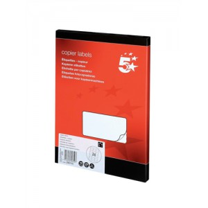 5 Star Labels Copier 24 per Sheet 70x37mm White [2400 Labels]