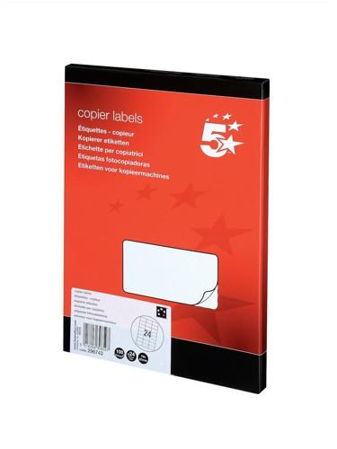 5 Star Copier Labels 70x37mm 100 Shts