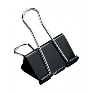 5 Star Foldback Clips 25mm Black [Pack 12]