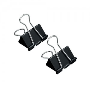 5 Star Foldback Clips 32mm Black [Pack 12]