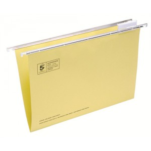 5 Star Suspension File Manilla Heavyweight with Tabs and Inserts Foolscap Yellow Ref 100331401 [Pack 50]