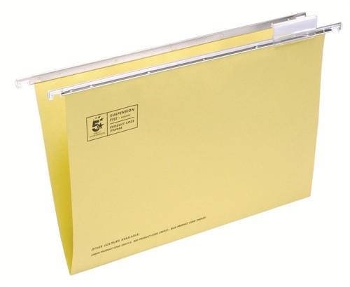 5 Star Suspension Files Fcap Yellow Pk50