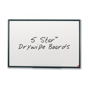 5 Star Drywipe Board Lightweight with Fixing Kit and Pen Tray W1800xH1200mm