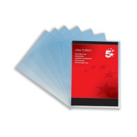 Image for 5 Star Folder Plastic Copy-safe 90 Micron A4 Clear [Pack 100]