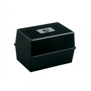 5 Star Card Index Box 5X3 Black