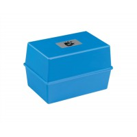 Image for 5 Star Card Index Box Capacity 250 Cards 6x4in 152x102mm Blue