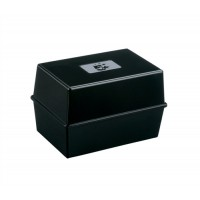 Image for 5 Star Card Index Box Capacity 250 Cards 8x5in 203x127mm Black