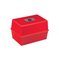 Image for 5 Star Card Index Box 8X5 Red