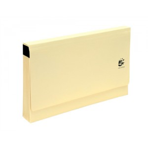 5 Star De Luxe Expanding File with Flap 19 Pockets A-Z Foolscap Buff