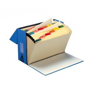 5 Star Expanding Box File 20 Pockets A-Z Foolscap W374xD134xH253mm Blue