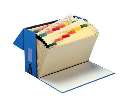 5 Star Expanding Box File 20 Pockets A-Z Foolscap W374xD134xH253mm Blue