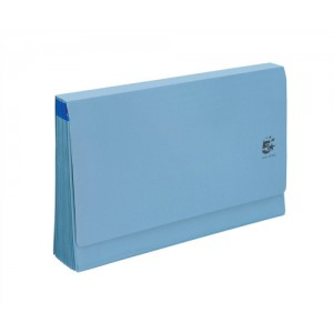 5 Star De Luxe Expanding File with Flap 16 Pockets A-Z 12 Months 1-31 Foolscap Blue