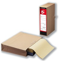 Image for 5 Star Storage Bag with Dust Flap Foolscap 102mm Capacity 356x248mm [Pack 25]