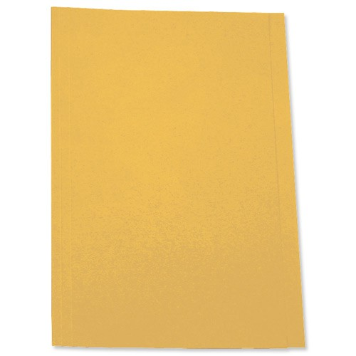 5 Star Square Cut Folder 250g Fcp Yellow