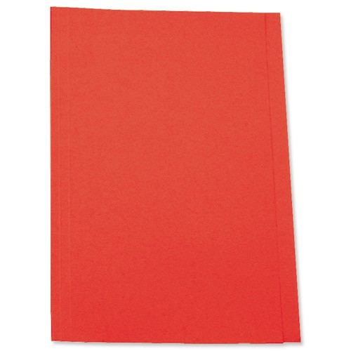 5 Star Square Cut Folder Recycled Pre-punched 250gsm Foolscap Red [Pack 100]