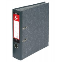 Image for 5 Star Lever Arch File 70mm Foolscap Cloudy Grey [Pack 10]