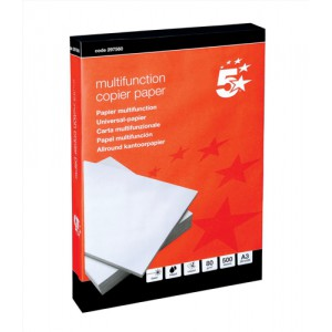 5 Star Office Copier Paper Multifunctional 80gsm 500 Sheets per Ream A3 White 1 Ream
