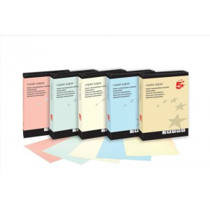 5 Star Coloured Copier Paper Multifunctional Ream-Wrapped 80gsm A4 Cream [500 Sheets]