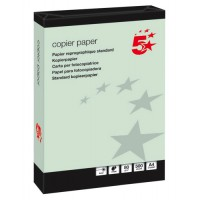 Image for 5 Star Coloured Copier Paper Multifunctional Ream-Wrapped 80gsm A4 Green [500 Sheets]