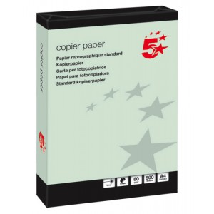 5 Star Coloured Copier Paper Multifunctional Ream-Wrapped 80gsm A4 Green [500 Sheets]